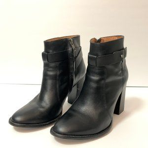 Madewell Sammie Ankle Block Heel Leather Boots